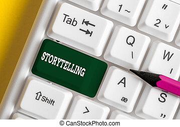 clavier, papier, photo, storytelling., blanc, note, pc, arrière-plan., théâtral, culturel, gestes, activité, projection, showcasing, au-dessus, écriture, social, business
