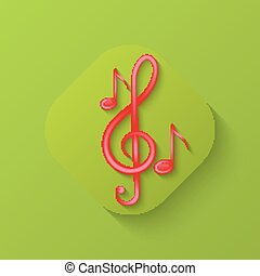 clef triple, icône