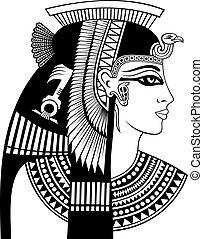 cleopatra, tête, détail