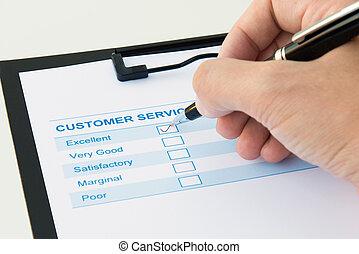 client, évaluation, formulaire