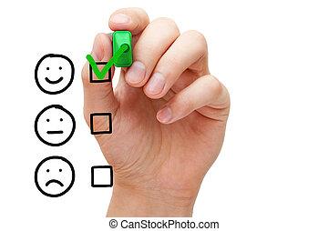 client, évaluation, service, excellent