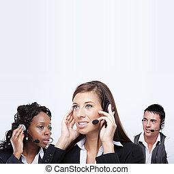 client, business, service, représentants