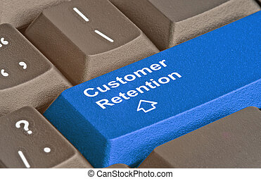 client, clavier, rétention