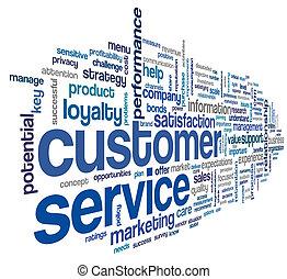 client, concept, mot, nuage, service