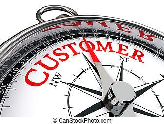 client, conceptuel, mot, rouges, compas