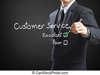 client, excellent, service