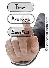 client, formulaire, service, moyenne, choisir, évaluation