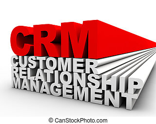 client, gestion, relation, sur, fond, blanc rouge, crm