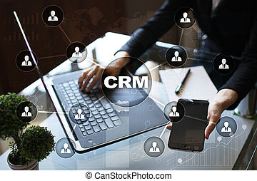 client, gestion, service, relation, concept., crm.