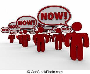 client, jeûne, urgent, parole, demande, besoin, bulles, maintenant, réponse