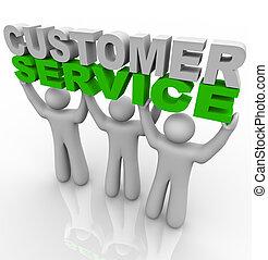 client, levage, -, mots, service