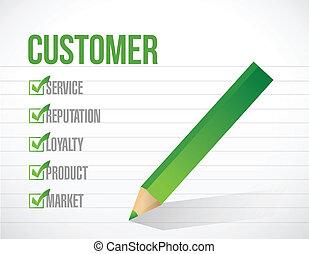client, liste, illustration, marque, conception, chèque