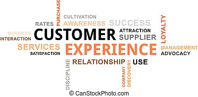 client, mot, -, nuage, expérience