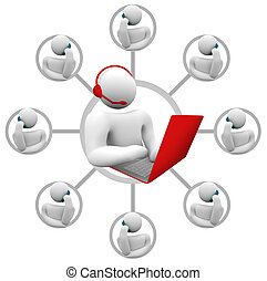 client, netowrk, soutien, -, callers, opérateur