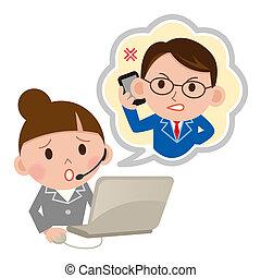 client, opérateur, soutien