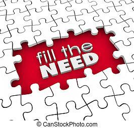 client, produit, service, demands, commercialisation, besoin, remplir