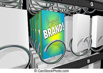 client, vente, fidélité marque, illustration, machine, affinité, préférence, mieux, 3d