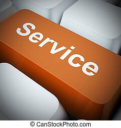 clients, concept, aide, service, assistance, -, illustration, ou, services, icône, spectacles, conseil, 3d