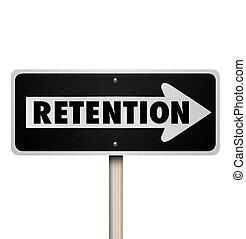 clients, mot, employés, signe, manière, retenir, une, route, rétention