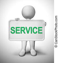 clients, ou, aide, icône, -, conseil, concept, services, 3d, spectacles, illustration, service, assistance