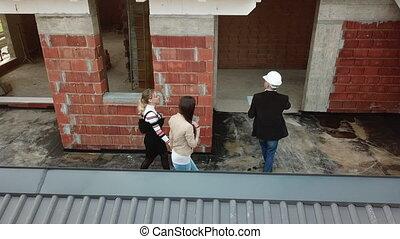 clients, site, construction, architecte, nouvelle maison, achat