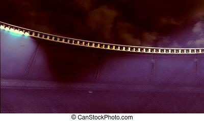 clignotant, lights., stade