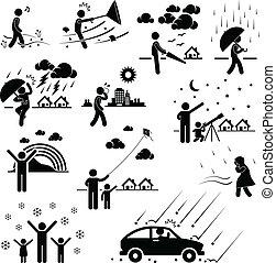 climat, temps, atmosphère, gens