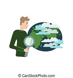 climat, vecteur, scientifique