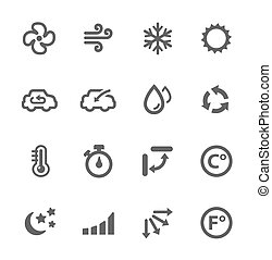 climatisation, icônes