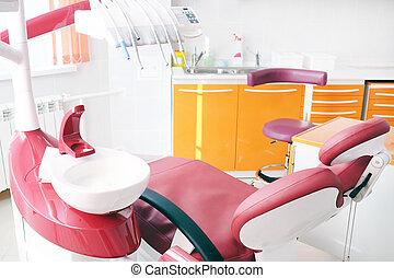 clinique, intérieur, dentaire