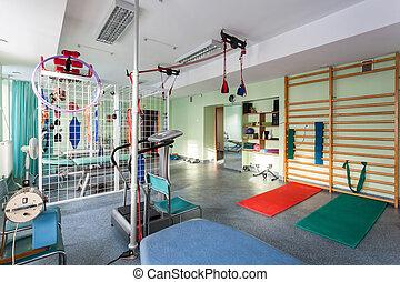clinique, physiothérapie, salle vide