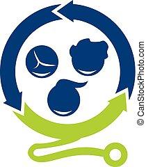 clinique, vecteur, conception, pédiatre, gabarit, logo