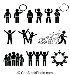cliparts, bien-être, enfants, droits