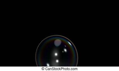 clips, bulle, noir, deux, éclatement