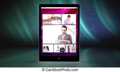 clips, main, vue, utilisation, tablette