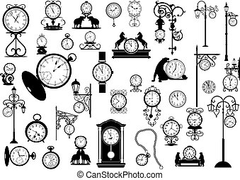 clocks, montres