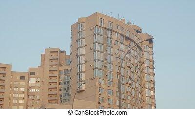 closeup, bâtiment, appartement