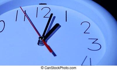 closeup, business, fond, horloge, blanc