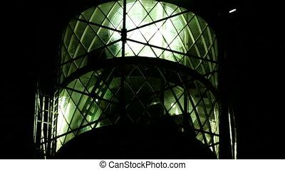 closeup, nuit, phare