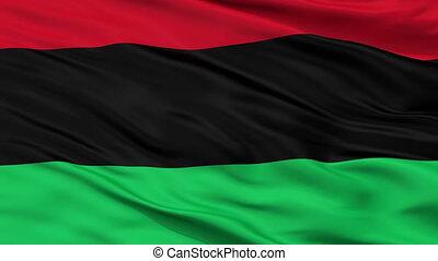 closeup, panafrican, unia, seamless, libération, drapeau, américain noir, afro, boucle