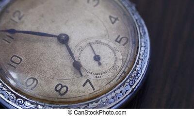closeup, vendange, horloge