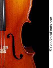 closeup, violoncelle