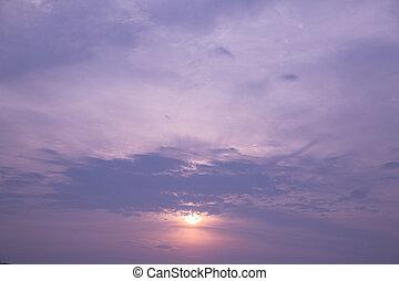 cloudscape, crépuscule