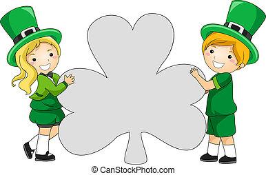 clover-shaped, bannière