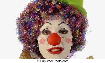 clown, triste