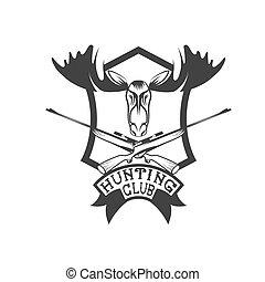 club, élan, crête, chasse, carbines