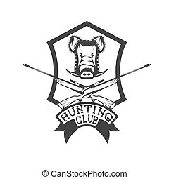 club, carbines, verrat, crête, chasse