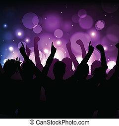 club, concert, fond, ou