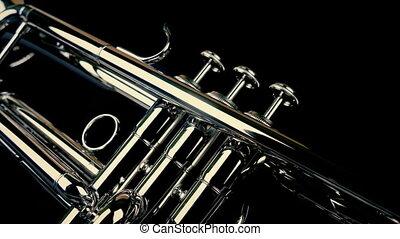 club, coup, en mouvement, trompette, jazz