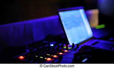 club, dj, console, nuit